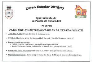 ESCUELA INFANTIL2016-17