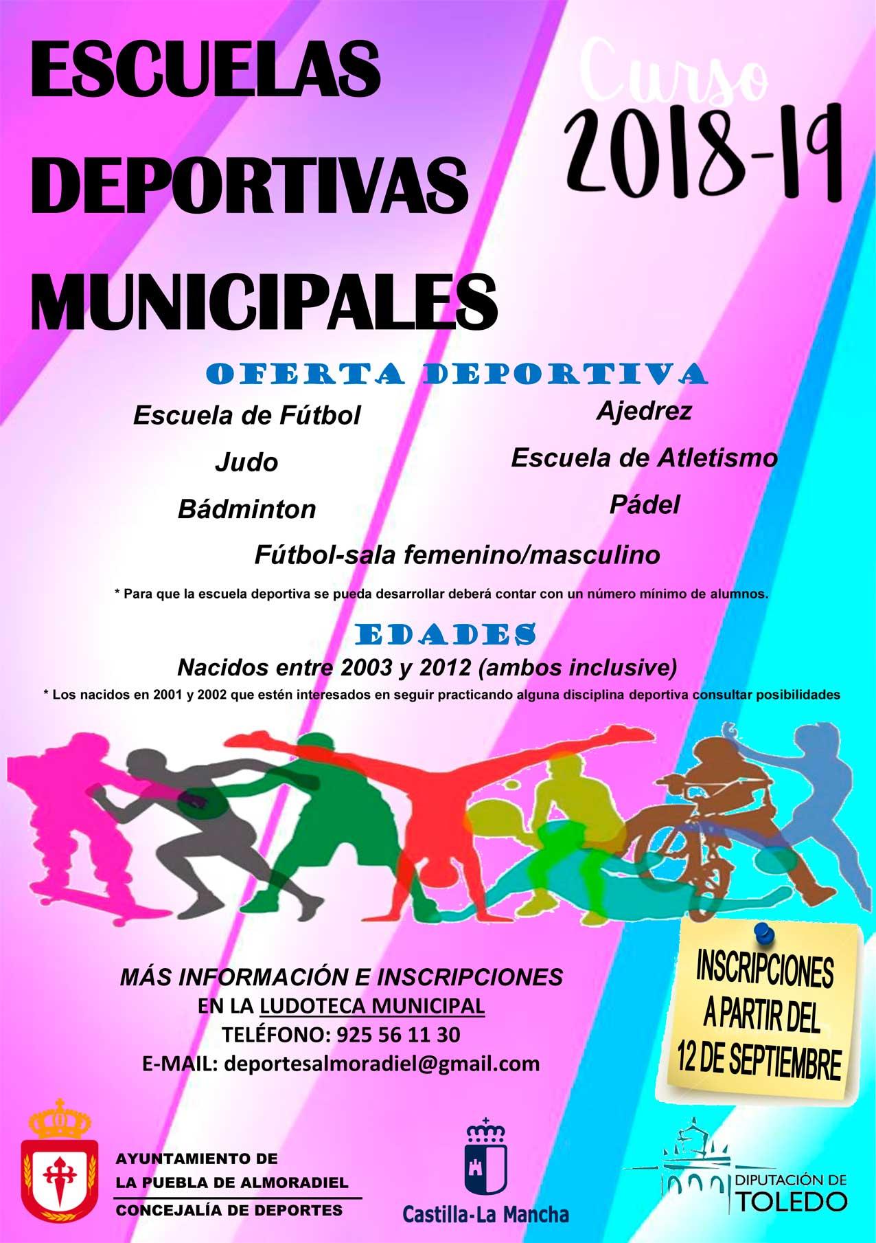 f0d5c7956 Escuelas Deportivas 2018-19 - Ayuntamiento de la Puebla de Almoradiel